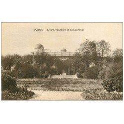 carte postale ancienne PARIS 14. Observatoire et Jardins