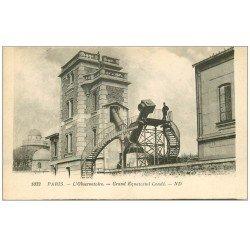carte postale ancienne PARIS 14. Observatoire Grand Equatorial Condé animation