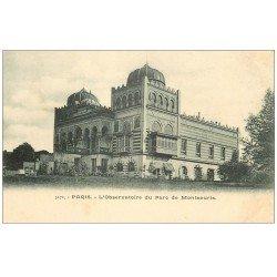 carte postale ancienne PARIS 14. Observatoire Parc Montsouris vers 1900