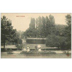 carte postale ancienne PARIS 14. Parc Montsouris Lac et Île animation