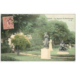 carte postale ancienne PARIS 14. Square de Montrouge 1905