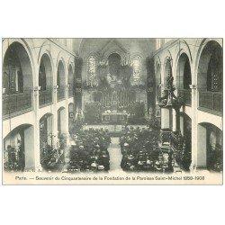 carte postale ancienne PARIS 15. Centenaire Fondation Paroisse Saint-Michel 1909