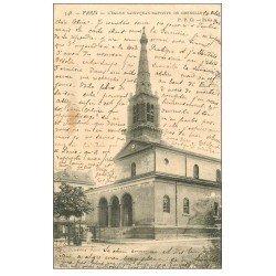 carte postale ancienne PARIS 15. Eglise Saint-Jean-Baptiste de Grenelle 1904