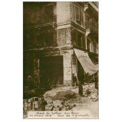 carte postale ancienne PARIS 15. Rue de l'Entrepot. Raid de Gothas en 1918
