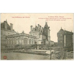 carte postale ancienne 10 ESSOYES. Château Heriot devenu Hôpital Militaire 1918