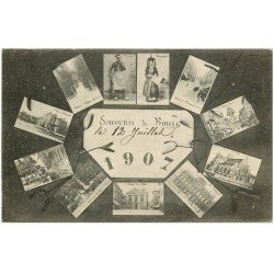 carte postale ancienne 01 BOURG. 1907 Multivues. Carte vierge
