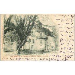 carte postale ancienne 10 LES RICEYS. Château de Ricey-Bas 1902. Ecriture spéciale...
