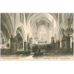 carte postale ancienne 10 LES RICEYS. Eglise et son Choeur 1906