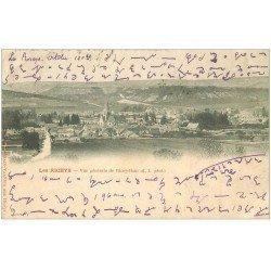 carte postale ancienne 10 LES RICEYS. Vue générale 1902. Ecriture spéciale...