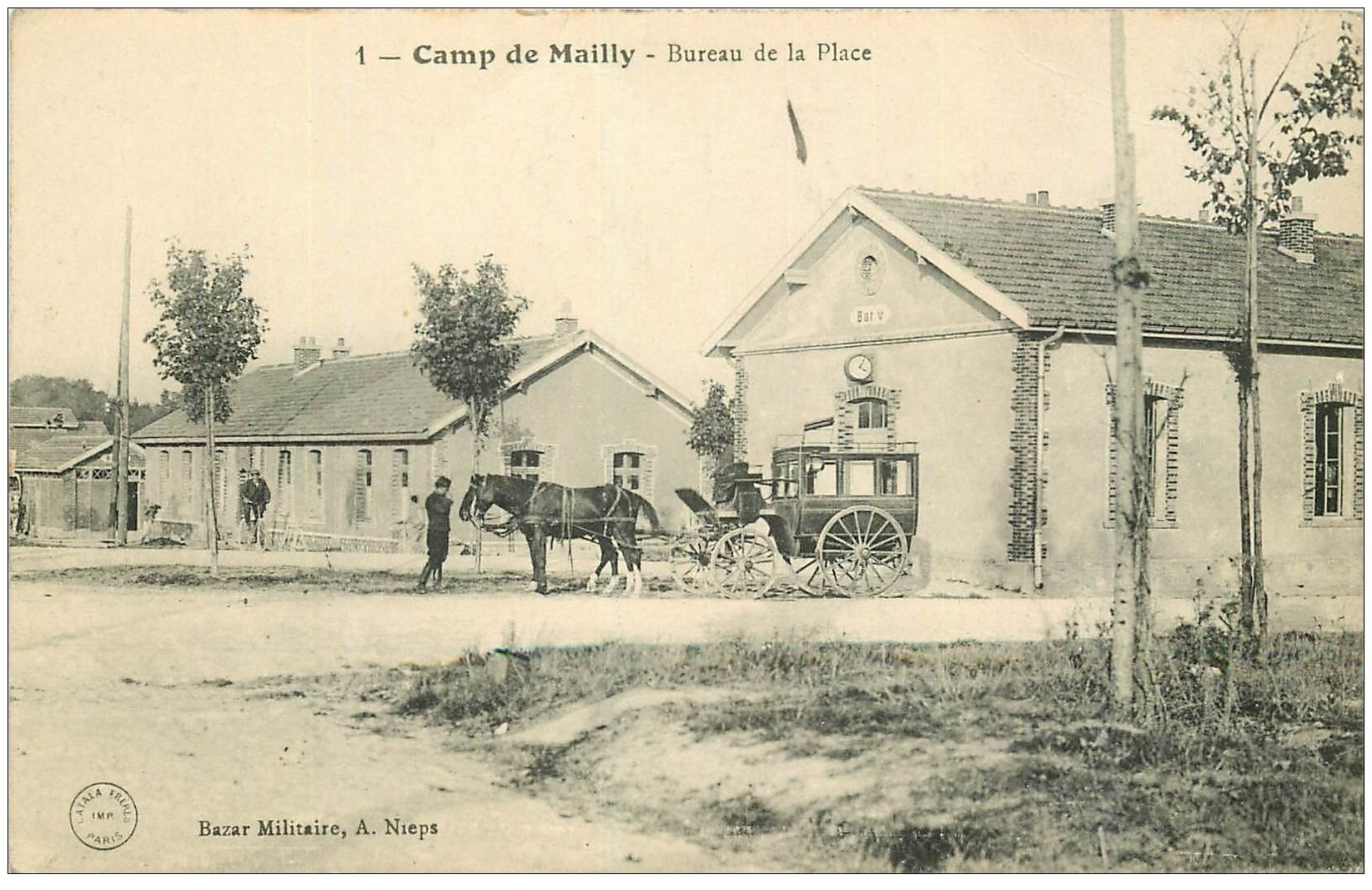 10 mailly le camp bureau de poste de la place avec transport postal. Black Bedroom Furniture Sets. Home Design Ideas