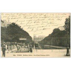 carte postale ancienne PARIS 15. Station Métropolitain Nord-Sud Pasteur