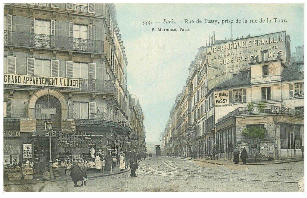 Paris 16 alimentation maison besnault rue de passy et de - La poste passy ...