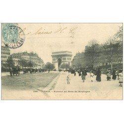 carte postale ancienne PARIS 16. Avenue du Bois de Boulogne 1903