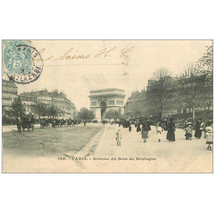 PARIS 16 Avenue du Bois de Boulogne 1903 ~ Manoir Bois De Boulogne