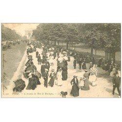 carte postale ancienne PARIS 16. Avenue du Bois de Boulogne 1904