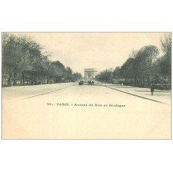 carte postale ancienne PARIS 16. Avenue du Bois de Boulogne 24 vers 1900