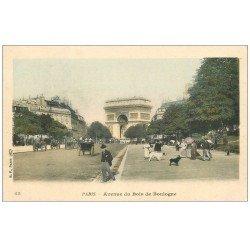 carte postale ancienne PARIS 16. Avenue du Bois de Boulogne 65 en couleur