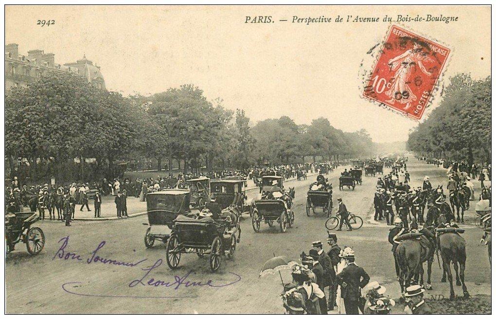 PARIS 16 Avenue du Bois de Boulogne Gardes Républicains 1909 ~ Manoir Bois De Boulogne