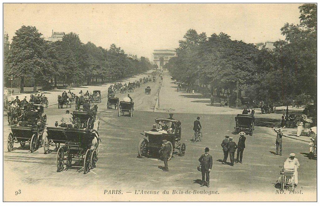 PARIS 16 Avenue du Bois de Boulogne n° 93 Calèches et  ~ Manoir Bois De Boulogne