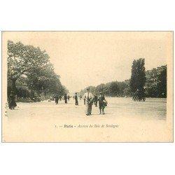 carte postale ancienne PARIS 16. Avenue du Bois de Boulogne n°1 vers 1900
