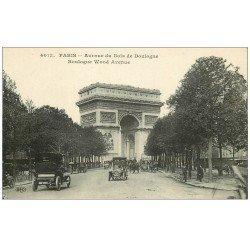 carte postale ancienne PARIS 16. Avenue du Bois de Boulogne Taxis 4013