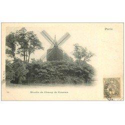 carte postale ancienne PARIS 16. Bois Boulogne Moulin du Cham de Courses. Timbre 1 Centime 1902 verso vierge...