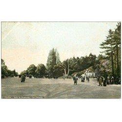 carte postale ancienne PARIS 16. Bois de Boulogne. La Cascade 1907