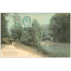 carte postale ancienne PARIS 16. Bois de Boulogne. Le Canotage. Plaisirs du Dimanche 1906