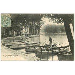 carte postale ancienne PARIS 16. Bois de Boulogne. L'Embarcadère 1906