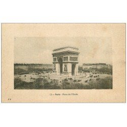 carte postale ancienne PARIS 17. Arc de Triomphe de l'Etoile 1911