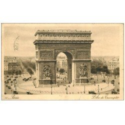 carte postale ancienne PARIS 17. Arc de Triomphe de l'Etoile 1936