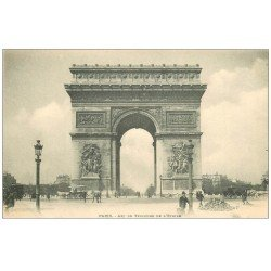 carte postale ancienne PARIS 17. Arc de Triomphe de l'Etoile vers 1900