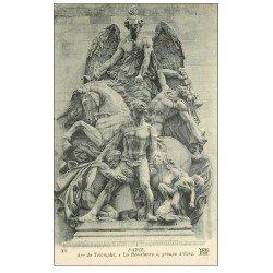 carte postale ancienne PARIS 17. Arc de Triomphe. La Résistance d'Etex