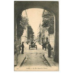 carte postale ancienne PARIS 17. Automobile rue Bayen 1908