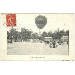 carte postale ancienne PARIS 17. Ballon Captif Porte Maillot 1909