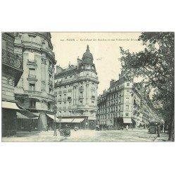 carte postale ancienne PARIS 17. Carrefour des Acacias et rue Villaret-de-Loveuse 1912 Magasin Peugeot