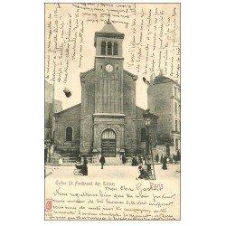 carte postale ancienne PARIS 17. Eglise Saint-Ferdinand des Ternes 1902