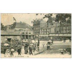 carte postale ancienne PARIS 17. La Porte Maillot 1914. Publicité murale RICQLES
