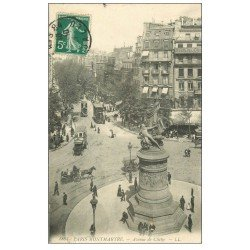 carte postale ancienne PARIS 18. Avenue de Clichy 1911