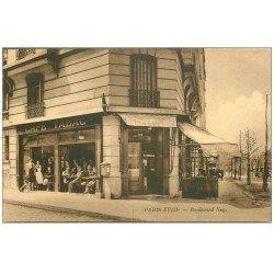 carte postale ancienne PARIS 18. Boulevard Ney Café Tabac Parabelle