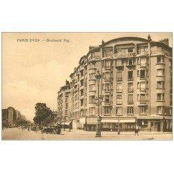 carte postale ancienne PARIS 18. Boulevard Ney Caves Brisson
