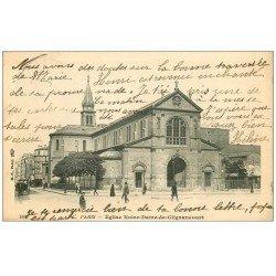 carte postale ancienne PARIS 18. Eglise Notre-Dame-de-Clignancourt 1906