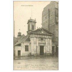 carte postale ancienne PARIS 18. Eglise Saint-Denis de la Chapelle