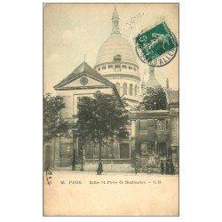 carte postale ancienne PARIS 18. Eglise Saint-Pierre de Montmartre 1908