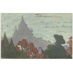 carte postale ancienne PARIS 18. La Butte Montmartre. L'Artiste 1905