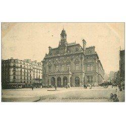 carte postale ancienne PARIS 18. La Mairie Boulevard Ordener