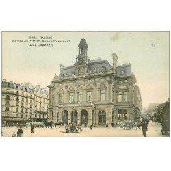 carte postale ancienne PARIS 18. La Mairie rue Ordener