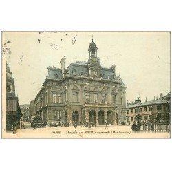 carte postale ancienne PARIS 18. La Mairie rue Ordener 1905
