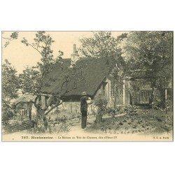 carte postale ancienne PARIS 18. Le Jardinier de Montmartre. Maison au Toit de Chaume