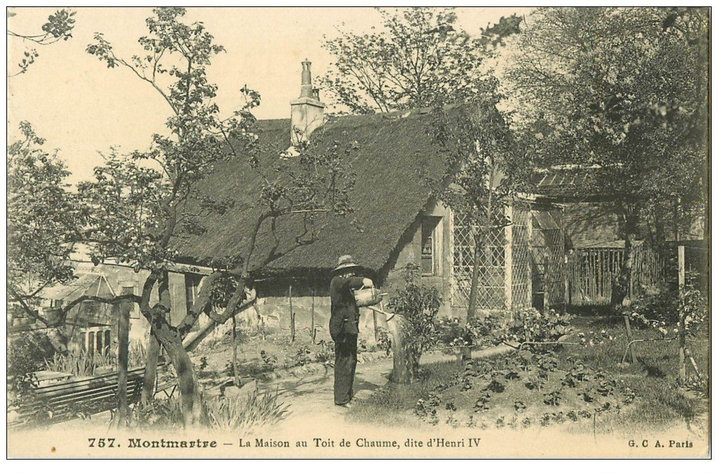 Paris 18 le jardinier de montmartre maison au toit de chaume for Ancienne maison close paris